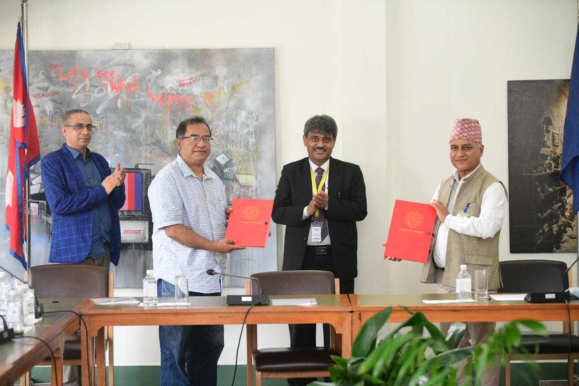 Memorandum of Understanding signed between NEFEJ and Kathmandu University
