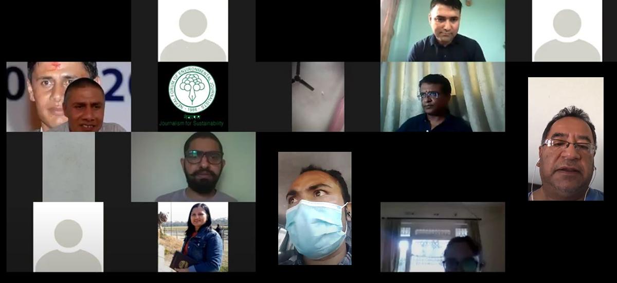 NEFEJ organizes Climate Change-based Journalism Training